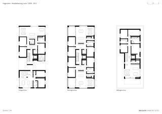 Grundrisse 1 : 250 Arealbebauung Lorze von Della Casa AG Architekten SIA