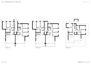 Grundrisse 1: 250 Arealbebauung Kirchbühl von Della Casa AG Architekten SIA