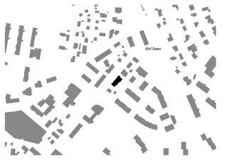 Schwarzplan Gemeinschaftswohnhaus 50+ von Haerle Hubacher Architekten BSA