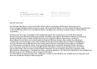 Description du projet Light House de Zeitwerkstatt GmbH