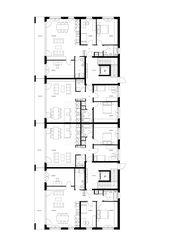 Grundrisse Haus 3 Überbauung Visp West von Balzani Diplomarchitekten ETH SIA SWB