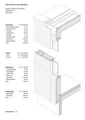 Fassadenschnitt 1:33 Passivhaus Vogel, Mostelberg von Diethelm & Spillmann Architekten