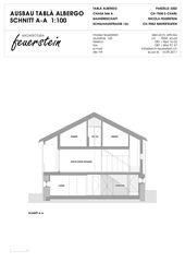 Schnitt A-A Umbau Heustall S-charl von Architectura Feuerstein