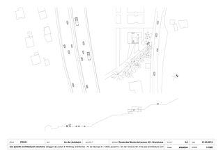 situation A4 1/1000 An der Autobahn von sas specific architectural solutions Ginggen, Locher, Winthrop