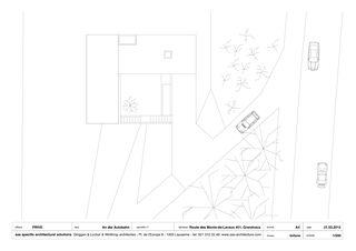 Plan Dachgeschoss A4 1/200 An der Autobahn von sas specific architectural solutions Ginggen, Locher, Winthrop