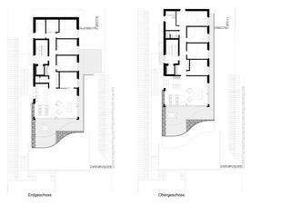Erdgeschoss/Obergeschoss Terrassenhaus Hubelstrasse Sempach-Stadt von Hadorn Architekten