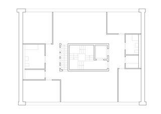Plan 2e et 4e étage Wohnhaus Bonifacius de Degelo Architekten BSA SIA AG