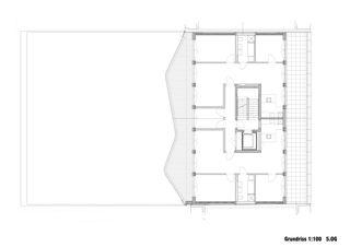 Grundriss 5. OG Neubau Rotkreuzhaus von Forsberg Architekten AG