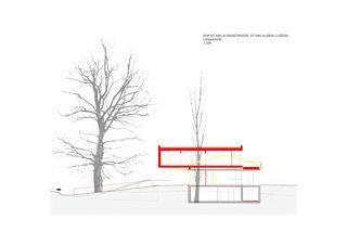 Längsschnitt Einfamilienhaus Horw de Antonietty Architekten AG