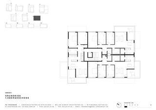 Grundriss 1. OG Haus 4 Siedlung Frohheim, Zürich-Affoltern von Müller Sigrist Architekten AG / EM2N Architekten AG, Zürich
