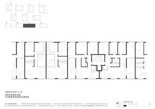 Grundriss 1. OG Haus 1C Siedlung Frohheim, Zürich-Affoltern von Müller Sigrist Architekten AG / EM2N Architekten AG, Zürich