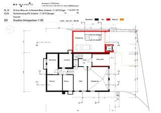 Plan au sol sous-sol Haus Weiss, Oberägeri de B+B Planer AG