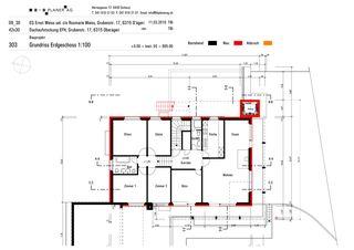 Plan au sol rez de chaussée Haus Weiss, Oberägeri de B+B Planer AG