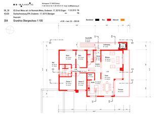 Plan au sol Premier étage Haus Weiss, Oberägeri de B+B Planer AG