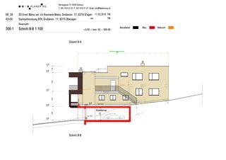 Coupe B-B Haus Weiss, Oberägeri de B+B Planer AG