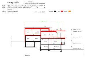 Coupe C-C Haus Weiss, Oberägeri de B+B Planer AG
