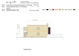 Façades Nord-Ouest Haus Weiss, Oberägeri de B+B Planer AG