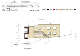 Façades Nord-Est Haus Weiss, Oberägeri de B+B Planer AG