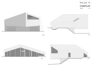 Fassaden Villa V à Champlan en Valais von Raphael Hilan architecte EPFL