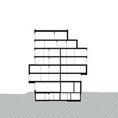 Schnitt Neubau Wohn- und Geschäftshaus von GKS Architekten+Partner AG