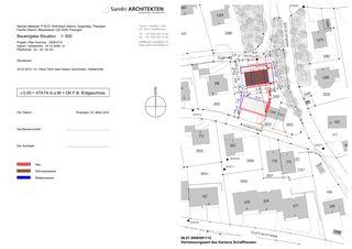 Ansichten und Schnitte Duplex-Wohnhaus Minergie-P ECO von Sandri Architekten