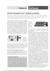 Bericht Energiepraxis Duplex-Wohnhaus Minergie-P ECO von Sandri Architekten