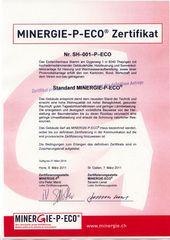 Minergie-P ECI Zertifikat Duplex-Wohnhaus Minergie-P ECO von Sandri Architekten