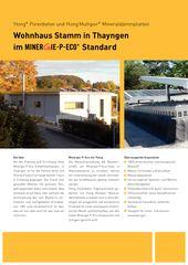 Flyer Ytong Multipor Duplex-Wohnhaus Minergie-P ECO von Sandri Architekten
