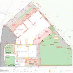 Umgebung mit EG 1:50 Um-/Anbau EFH Stickerhäuschen von mmarch - Mader Marti Architektur ETH