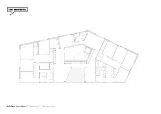 Grundriss 2. Obergeschoss Wohnhaus Zürichberg von THINK ARCHITECTURE