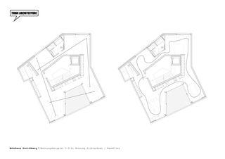 Wohnungsbeispiel 3½-Zimmerwohnung Wohnhaus Zürichberg von THINK ARCHITECTURE