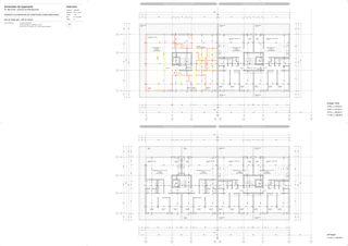 Plan d'étage Les Fleurettes de ris_chabloz architectes sa