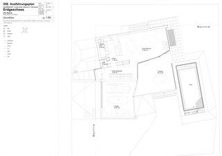 Grundriss Erdgeschoss HOUSE WITH VIEWS von Wyss + Santos Architekten