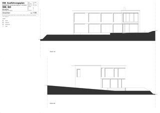 Fassadenansicht Sued-West, Fassadenansicht Sued-Ost HOUSE WITH VIEWS von Wyss + Santos Architekten
