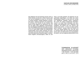 Text Haus am Lago Maggiore von Conradin Clavuot