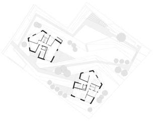 Situationsplan Bebauung Georges Horgen von Oliver Brandenberger Architekten BSA SIA