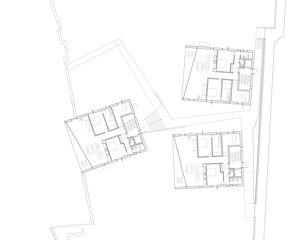 Grundriss EG (Haus A und B), 1. OG (Haus C) Seehäuser Meilen von E2A Eckert Eckert Architekten AG