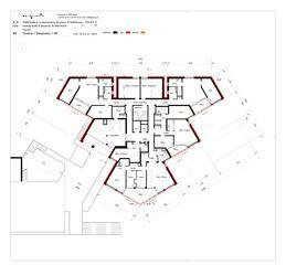 Grundriss 1. Obergeschoss Sanierung Hochhaus Schiller A von B+B Planer AG