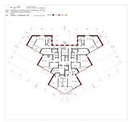 Grundriss 2. bis 16. Obergeschoss Sanierung Hochhaus Schiller A von B+B Planer AG