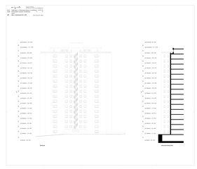 Nord- u. Schnitt-Ansicht-Ost Sanierung Hochhaus Schiller A von B+B Planer AG
