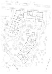 Rez-de-chaussée et environnement Wohnüberbauung Densa Park de Architekten ETH BSA SIA<br/>
