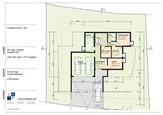 Grundriss UG  Neubau EFH im Wygarten von LPB Architekten AG