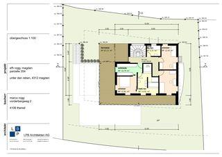 Grundriss OG Neubau EFH im Wygarten von LPB Architekten AG