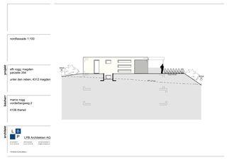 Nordfassade Neubau EFH im Wygarten von LPB Architekten AG