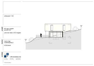 Ostfassade Neubau EFH im Wygarten von LPB Architekten AG