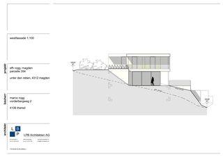 Westfassade Neubau EFH im Wygarten von LPB Architekten AG