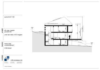 Schnitt Neubau EFH im Wygarten von LPB Architekten AG