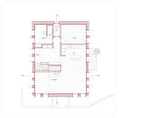 Grundriss EG Hof Bauer in Sassenloh (TG) von Christoph Sauter Architekten AG