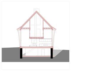 Schnitt A Hof Bauer in Sassenloh (TG) von Christoph Sauter Architekten AG