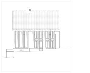 Ansicht Süd Hof Bauer in Sassenloh (TG) von Christoph Sauter Architekten AG
